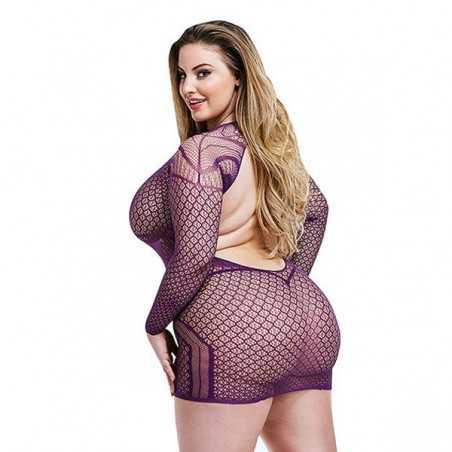Sexy Long Sleeve Dress Lapdance Purple