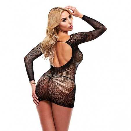Sexy Long Sleeve Dress Lapdance Black