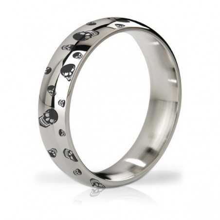 Earl Polished & Engraved Steel Love Ring Mystim