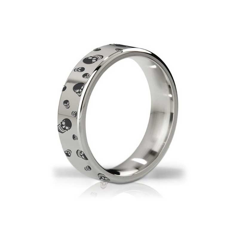Duke Polished & Engraved Steel Love Ring Mystim
