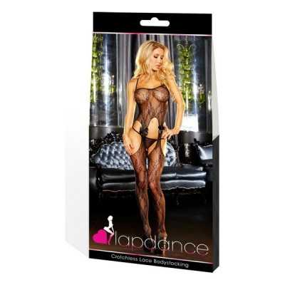 Bodystocking Crotchless Lace Lapdance Black