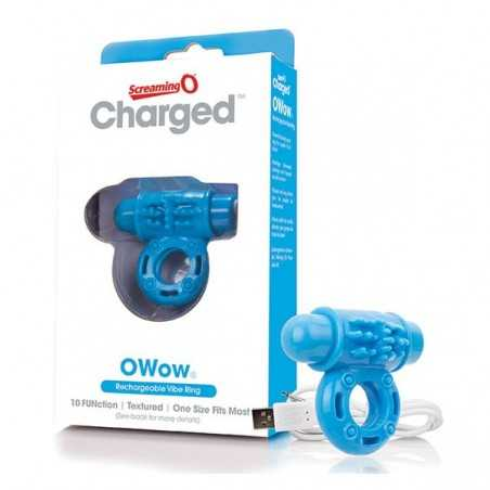 Anel Vibratório Charged OWow Azul The Screaming O 12433
