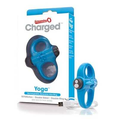Charged Yoga vibrierender Ring in Blau The Screaming O SCYVVBU