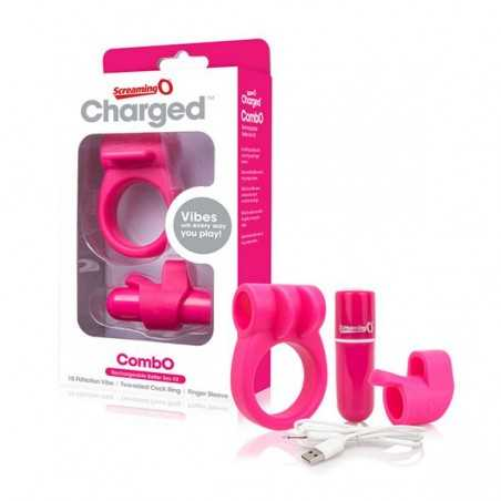 Charged CombO Kit 1 Penisring Pink The Screaming O 12679