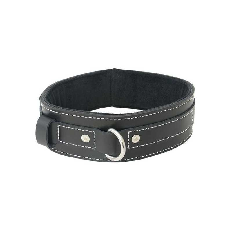 Edge Lined Leather Collar Sportsheets 80252