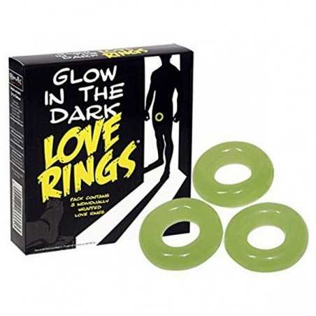 Glow in the Dark Love Rings Spencer & Fleetwood N7395