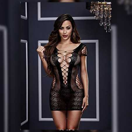 Corset Front Lace Mini Dress One Size Baci Lingerie BW3126
