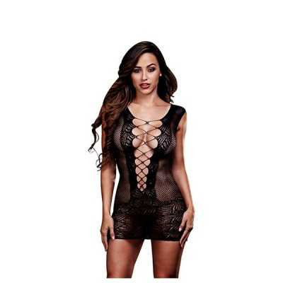 Ultra Corset Lace Up Cut Out Mini Dress One Size Baci Lingerie