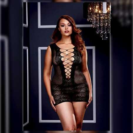 Ultra Corset Lace Up Cut Out Mini Dress Queen Size Baci