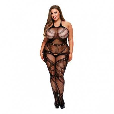 Crotchless Suspender Bodystocking Queen Size Baci Lingerie 00322