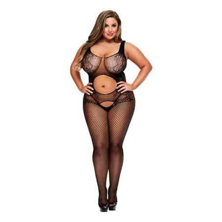 Crotchless Suspender Bodystocking Queen Size Baci Lingerie 00384