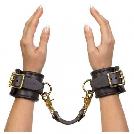Leather Handcuffs Coco de Mer