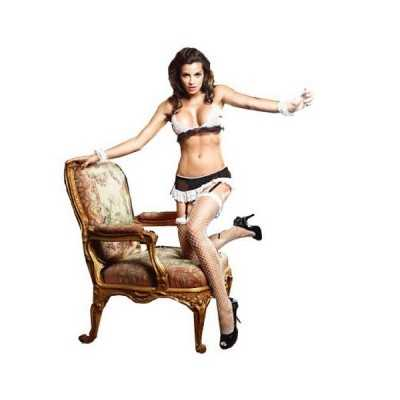 Conjunto Criada Francesa Do Not Disturb S/M Baci Lingerie BD1352