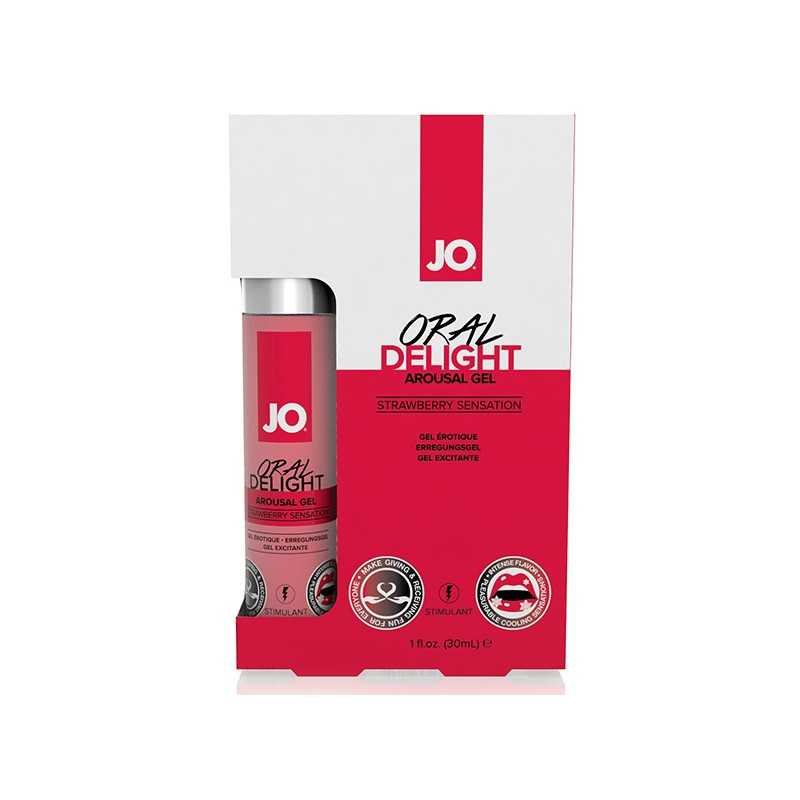 Oral Delight Gel Strawberry Sensation 30 m System Jo SJ40481