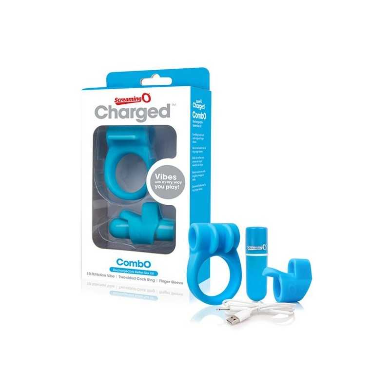 Charged CombO Kit 1 Penisring Blau The Screaming O 12686