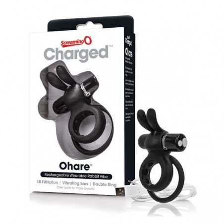 Charged Ohare Rabbit-Vibrator Schwarz The Screaming O 12518