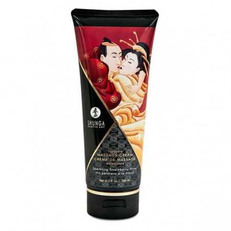 Massage Cream Strawberry 200 ml Shunga SH4108