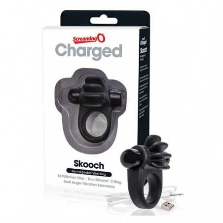 Aufladbarer Skooch Vibrator-Ring Schwarz The Screaming O 12723