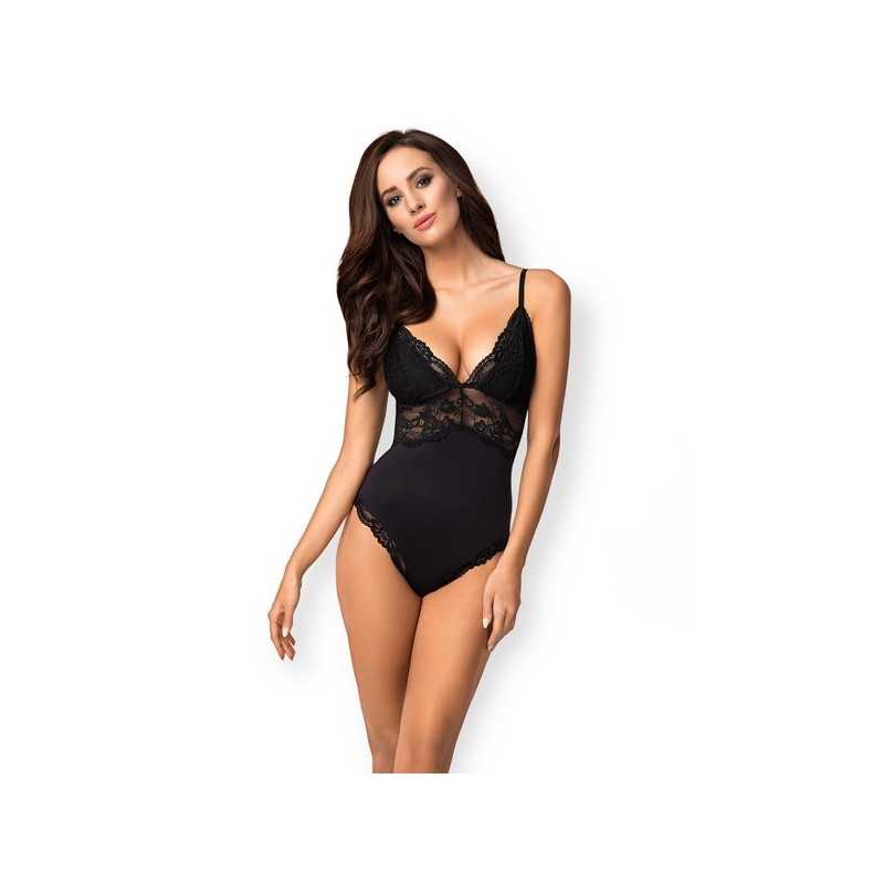 Lacy Bodysuit 810-TED-1 Obsessive Black
