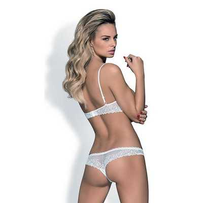 Lace Underwear Set Alabastra Obsessive White