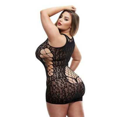 Dress Sexy Leopard Lapdance Black