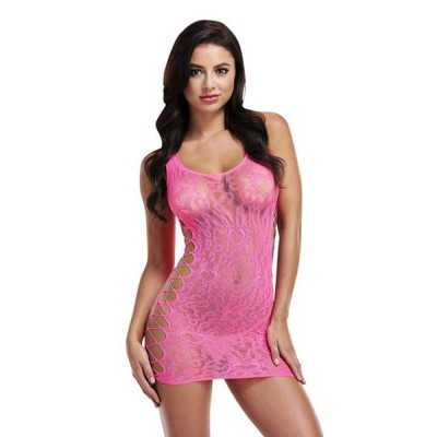 Dress Sexy Leopard Lapdance Pink